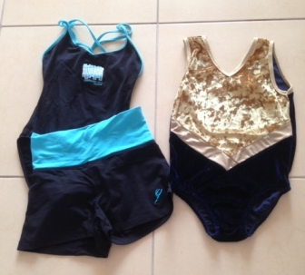 From the drawer of discarded uniforms: one dance kit and one leotard